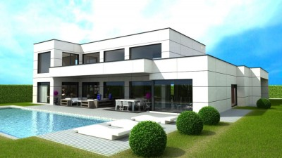 Turn-key 4 bedroom, 3 bathroom contemporary villa to be built in Nagueles on the Golden Mile, Marbella