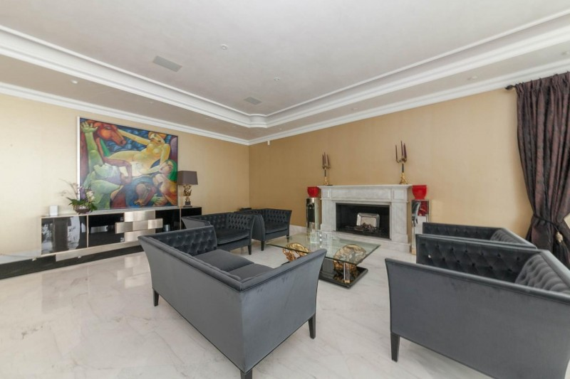 Lounge detail Luxury Villa Sierra Blanca Marbella-3