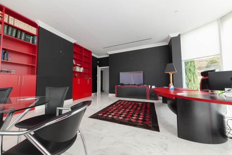 Office area Luxury Villa Sierra Blanca Marbella-6