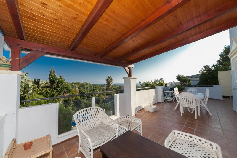 Covered terrace Marbella Luxury Area Townhouse-10