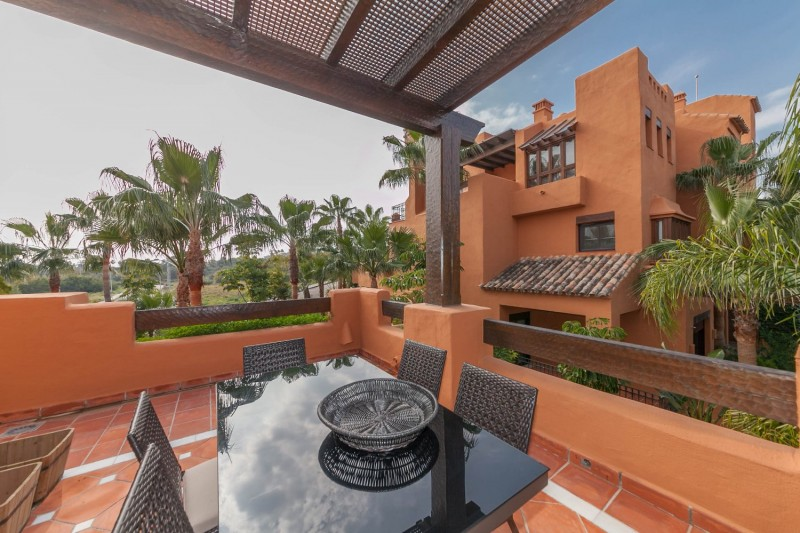 Terrace from Lounge Puerto Banus Alzambra Hill Club Penthouse-4