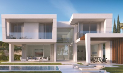 Marbella Property - Off-plan luxury contemporary villas in a secure gated community on Santa Clara Golf, Marbella