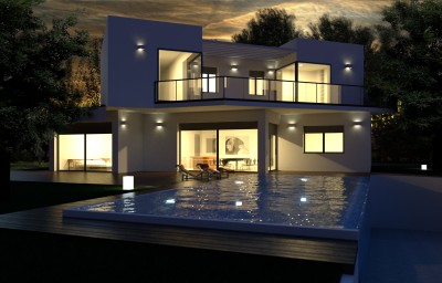 Brand new contemporary detached villas with Mediterranean views