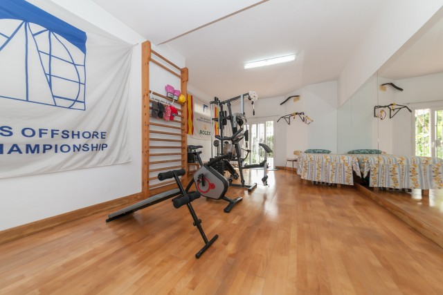 Gym Luxury Villa Torremolinos Montemar Carihuela-20