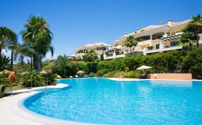 Luxury 3 bedroom garden apartment with private pool for sale in Aloha Park, Nueva Andalucia