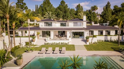 Amazing contemporary villa with panoramic sea views in Hacienda Las Chapas, Marbella