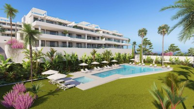 West Estepona - New development 2 & 3 bedroom apartments walking distance to the beach.