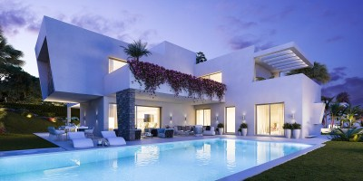 New development of detached villas at Monte Biarritz between Marbella and Estepona