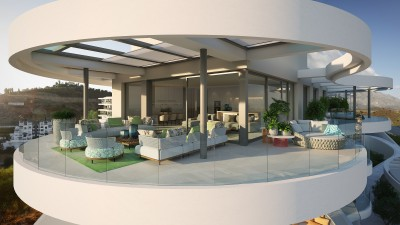 New development of Luxury apartments overlooking Marbella