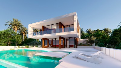 Stunning contemporary villa to be built at Estepona Golf