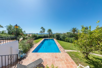 Possibly the best sea view in Marbella from this single level villa on the Golden Mile
