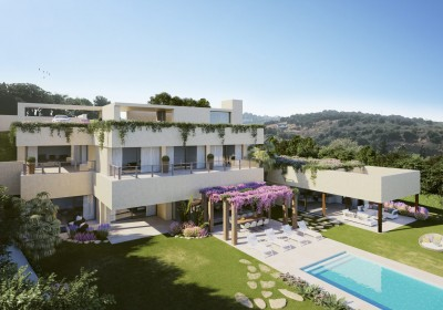 Luxury, new build, 5 bedroom contemporary villa for sale at Los Flamingos Golf, New Golden Mile