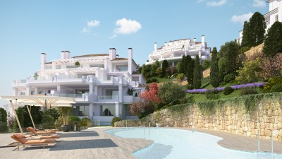 Luxury contemporary apartments and penthouses for sale in Nueva Andalucia above Puerto Banus