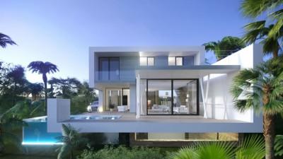 New build detached contemporary  villas for sale at El Campanario on the New Golden Mile, Estepona.