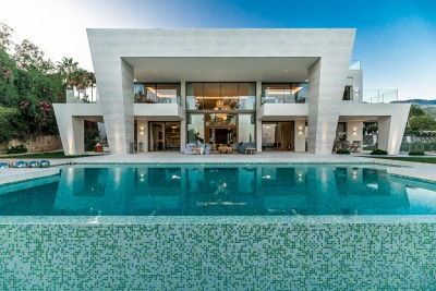 Exceptional prestige new build villa with sea views for sale in Sierra Blanca, Marbella