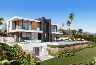 New build 4 bedroom, 4 bathroom villa with amazing sea views at La Paloma, Manilva