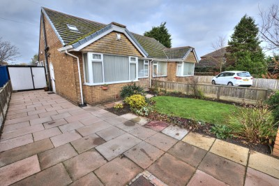 Back O'The Town Lane, Ince Blundell - semi detached dormer bungalow, well presented, three bedrooms, en-suite shower room, large garden, driveway, garage.