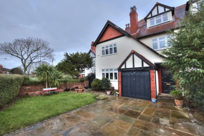 Character semi detached house for sale on Dowhills Road, close to Railway Station & beach, 4 bedrooms, open plan kitchen, no chain, garage & driveway with electric gates.