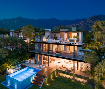 New development of individual luxury villas at Benahavis