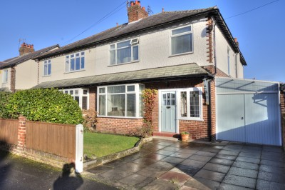 Moorland Avenue, Crosby, spacious 4 bedroom family semi , close to the Village, excellent school catchment,  large garden, driveway, no chain.