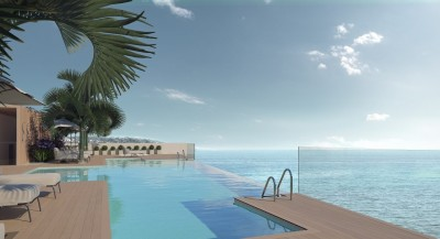 New development of luxury apartments and penthouses on the beach at Estepona