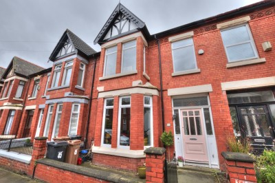 Ashdale Road, Waterloo - character period terraced family home, spacious rooms, well presented throughout, 4 bedrooms, 2 bathrooms, modern kitchen/dining room, wood burning stove.