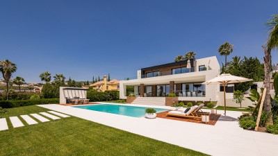 Stunning newly built luxury villa on the first line of Los Naranjos Golf in Nueva Andalucia, Marbella