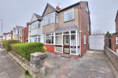 Cranmore Avenue, Crosby, semi detached family house, quiet location, close to schools and shops, no chain, large rear garden, driveway, garage.