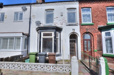 York Road, Crosby, character terraced house, heart of Crosby Village, short stroll to shops and amenities, no chain, requires updating.