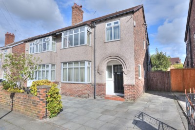 Strathmore Drive, Crosby, semi detached house, quiet location, close to schools, no chain, large sunny rear garden, driveway.