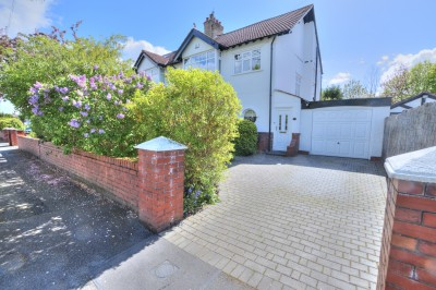 Cambridge Road, Crosby, spacious semi detached house, sought after road, close to schools, sunny mature rear garden, 3 bedrooms, driveway, garage.
