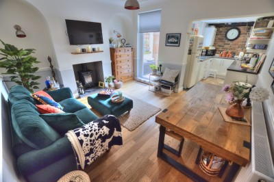 Victoria Road, Crosby, character terraced cottage, clos to shops and schools, well presented, woodburner, 2 double bedrooms, parking.