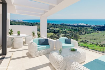 New development of apartments and penthouses at Estepona Golf