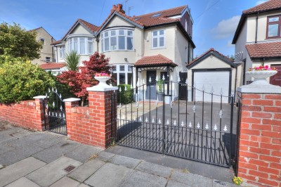 Manor Avenue, Crosby, extended semi detached house, 4 bedrooms, 2 bathrooms, large rear garden, garage, driveway, well presented, close to schools & shops.
