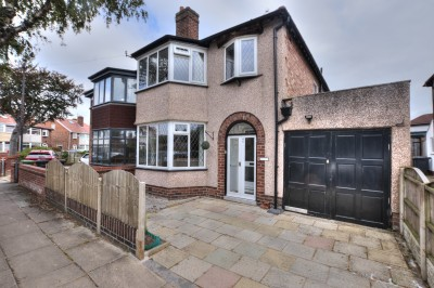 Lancaster Avenue, Crosby, semi detached house, 3 bedrooms, close to local schools and independent shops, South facing rear garden, driveway, garage.