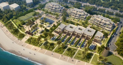 New development of front line beach apartments and bungalows on the New Golden Mile, Estepona