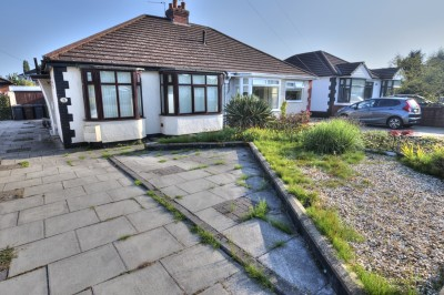 Sandhurst Way, Lydiate, semi detached bungalow, 2 bedrooms, quiet residential location, sunny South facing rear garden, no chain, driveway, garage.