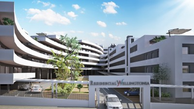 Landmark new development of apartments close to the centre of Estepona