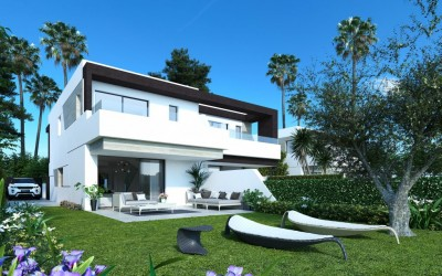 Gated community of semi-detached villas on the New Golden Mile, Estepona