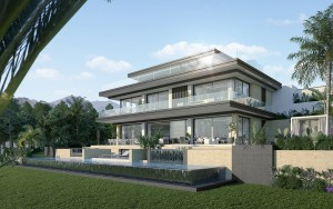 5 plots for sale with a beautiful profect of 5 modern villas