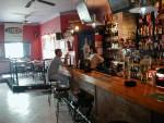 Barra del bar.