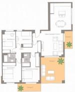 4 bed floor plan