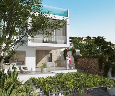 Luxusprojekt einer Villa kaufen mit freiem Blick auf die Bucht von Palma, Mallorca