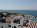View to the beach from roof terrace