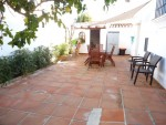 Patio at rear of house