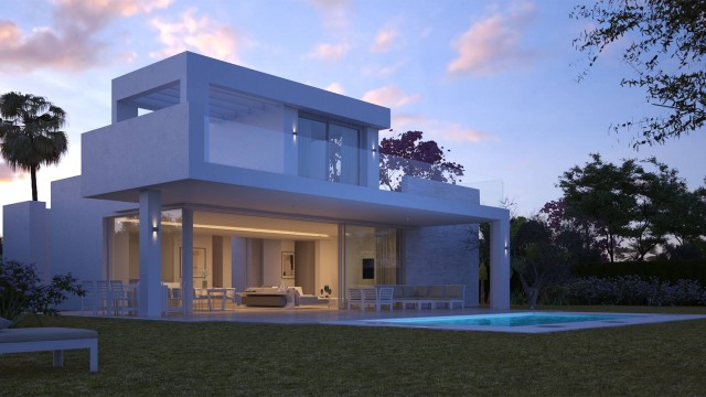 The villa by night 1
