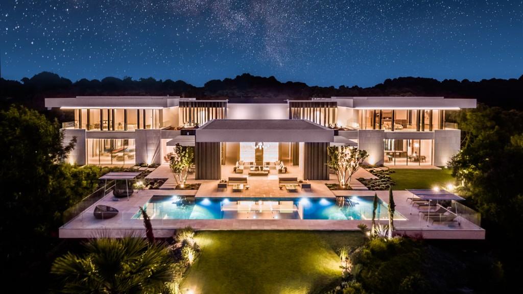 The villa by night