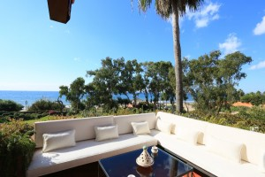 Panoramic sea views from this frontline penthouse in Los Monteros