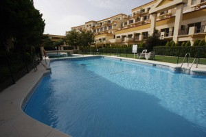 East facing studio in Romana Playa with a very large terrace