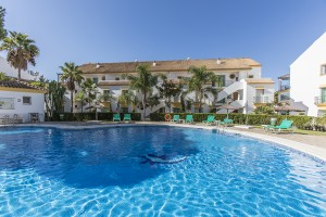 Garden apartment on the beach side in Carib Playa, East Marbella.